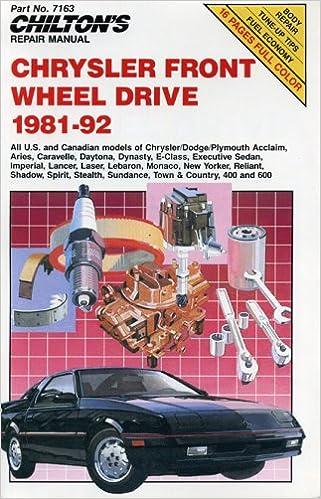 1992 Dodge Spirit Dynasty Daytona Shadow Shop Manual 92