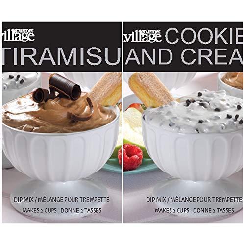 Gourmet du Village Dessert Dip Mix Duo - 2 Mixes - Tiramisu and Cookies & Cream