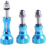 Smatree® Aluminium Thumbscrew/ Thumb Screw Set for Gopro Hero4 Hero3+ Hero3 Hero2 Camera - Aluminum Stainless Knob Bolt Nut Screw -Blue