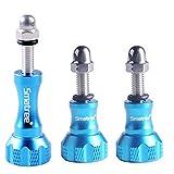 Smatree Aluminum Thumbscrew/Thumb Knob for Gopro Session, Hero6, 5, 4, 3, 3+, 2, 1 ( 3PCS, 1 Long + 2 Short) - Blue