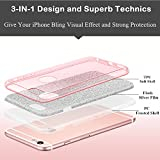 Milprox Slim Bling Crystal Clear 3 Layer Hybrid Case for iPhone 6s Plus/6 Plus - Pink
