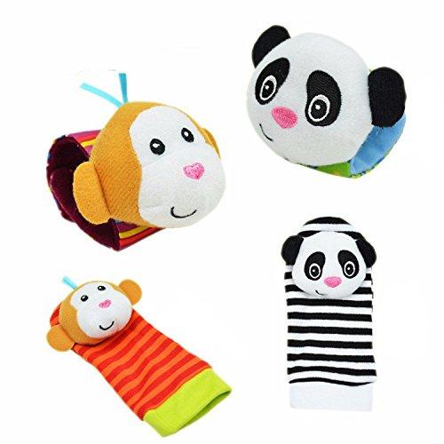 Baby Foot Finder–Calcetines de bebé pie Finders–Calcetines de bebé juguetes bebé sonajero juguetes Animal...