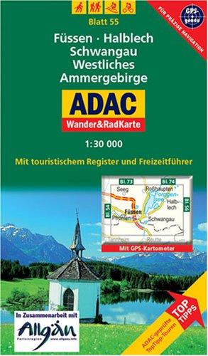 Füssen, Halblech, Schwangau, Westliches Ammergebirge: 1:30000. Alpen/Voralpen. GPS-genau.