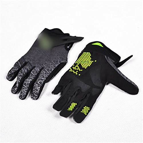 Liquor Motorcycle New Hand Gloves Pair Size L Men Adult Black Green Cool Race Racing Ride Riding Sport Protective Full Finger