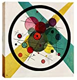 "Epic Graffiti is proud to present ""Circles In A Circle"". Featuring a print of the original painting by Wassily Kandinsky (circa 1923). Dimensions: 18""W x .75""L x 18""H"