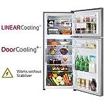 LG 260 L 2 Star Smart Inverter Frost-Free Double Door Refrigerator (GL-S292RDSY, Dazzle Steel, Convertible)