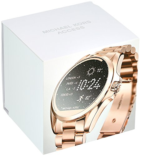 6cd7a1926a2c Michael Kors Access Rose Goldtone Bradshaw Touchscreen Smartwatch ...