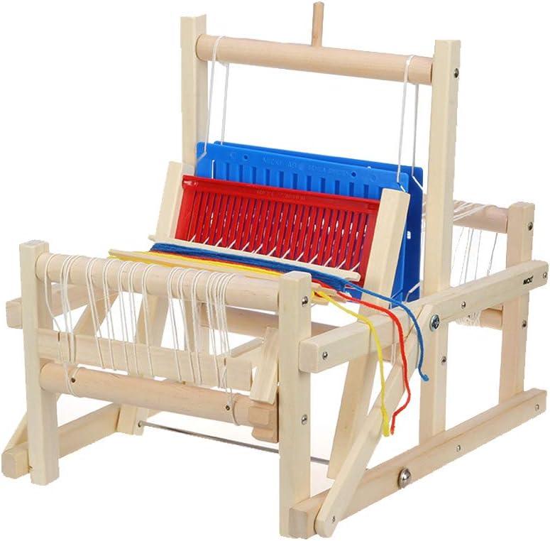 Zebroau Telar, máquina de Tejer Tejida a Mano de Bricolaje Tradicional de Madera Juguetes artesanales para niños Juguetes de Desarrollo Intelectual