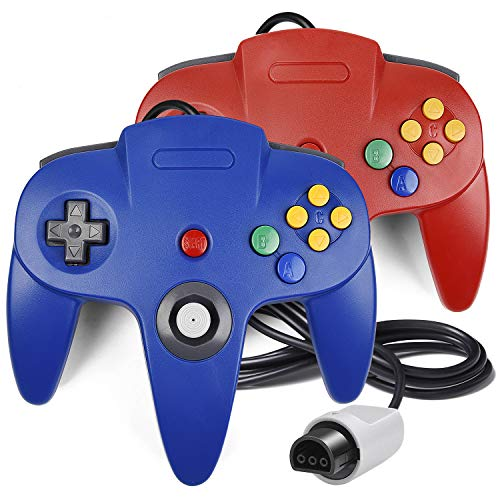 2 Pack N64 Controller, iNNEXT Classic Wired N64 64-bit Gamepad Joystick for Ultra 64 Video Game Console from iNNEXT