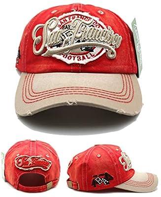 San Francisco New Leader Ladies Women Bay Area Skyline Vintage Red Khaki Gold Era Strapback Hat Cap