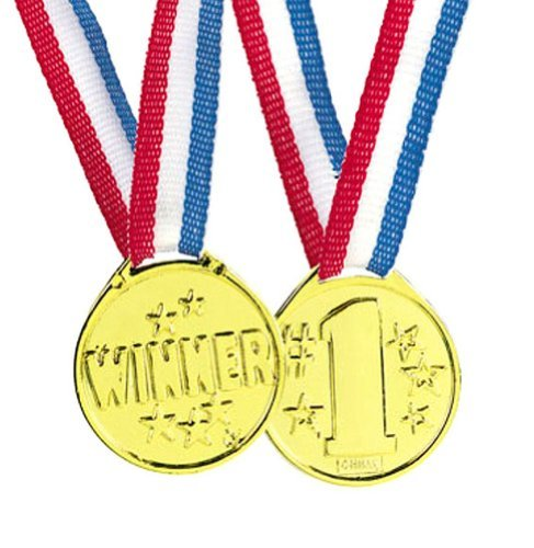Fun Express Gold Tone Winner Award Medals - 12 Pieces