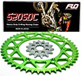 FLO MOTORSPORTS O-ring Chain and Sprocket Combo Kit KAWASAKI KX450F FRONT SPROCKET 13T / REAR SPROCKET 48-53 TOOTH GREEN/ BLACK/ BLUE (51T, GREEN)