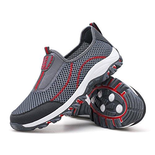 para Zapatillas Malla Zapatillas para Transpirables de Hombre Deportivas 40 Negras Grey1 Hombres Ligera qAOOI8Bw