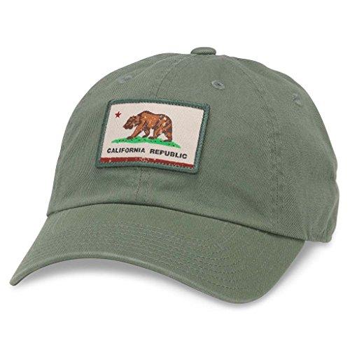 - American Needle Badger Slouch Casual Baseball Dad Hat California Flag, Cedar (44380A-CALI-CEDR)