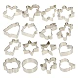 Esonmus 16pc Christmas Cookie Cutter Set Stainless Steel Deal (Small Image)