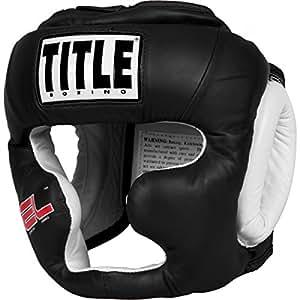 TITLE Gel World Full-Face Training Headgear, Black, Large