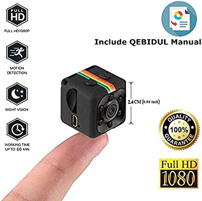Mini Wireless Hidden Spy Camera Secret Micro Security Cameras for Indoor or Outdoor Surveillance Home Office or Car Video Recorder with 1080p HD Recording ...