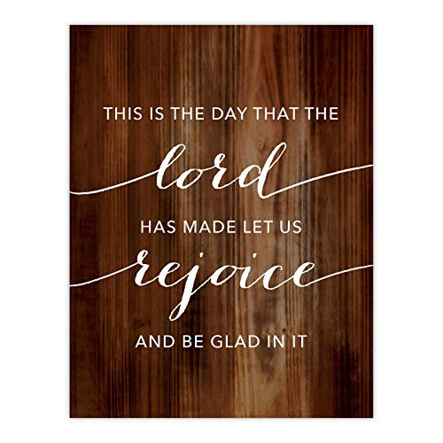 (Andaz Press Christian Bible Verses 8.5x11-inch Wood Poster, This is The Day That The Lord Has Made Let Us Rejoice and Be Glad in IT, 1-Pack, Religious Christmas Birthday Gift for Him Her)