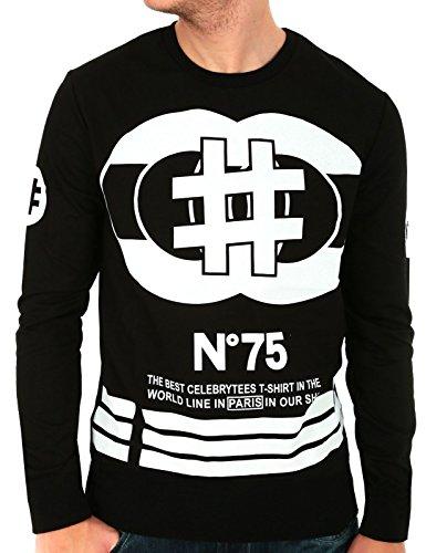 T-Shirt schwarz Langarm unmöglich 55Industry der Marke Celebry Tees