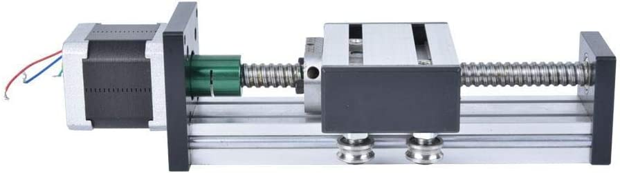 1605 Yadianna 100mm Single Shaft Stroke Ball Screw Linear Guide Rail Sliding Table with 42 Motor