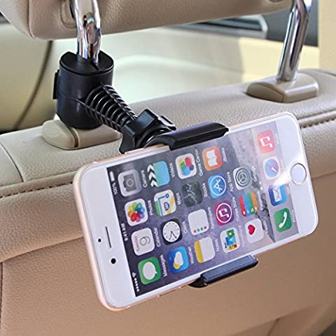 Universal Baby Kids Car Backseat Headrest Car Mount Stand Snap-on Holder with 360 Degrees Rotation 65-95mm for Apple Iphone 4 / 4s / 5 / 5c / 5s / 6 / 6plus , Android Samsung Galaxy S6 S6 Edge S5 S4 S3 Note 4 3 HTC Blackberry Nokia Google Motorola and All Other 3.5 Inch -6 Inch Smartphones GPS PDA + Free Oxdozer Stylus Pen (Alcatel Android 4g Fierce 2)