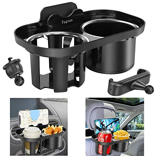 Faguan Multi-Function Drink Cup Phone Holder.Function Cell Phone Mount and Cup Holder 2-in-1.Can be Installed in Car Air Vents and Car Seat Headrests
