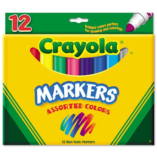 Binney  Smith Crayola(R) Non-Washable Markers, Broad Line, Assorted Classic Colors, Box Of ()