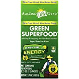 Amazing Grass Green Superfood Energy Lemon Lime, Box Of 15 Individual Servings, 0.25 Ounces