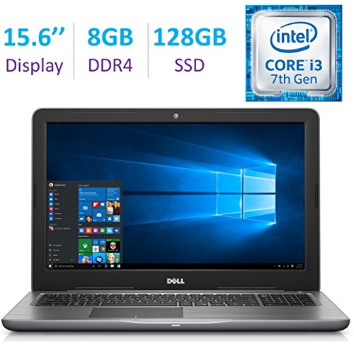 "Newest Dell Inspiron 15.6"" HD (1366 x 768) Laptop PC, Intel Dual Core i3-7100U 2.4GHz, 8GB DDR4"