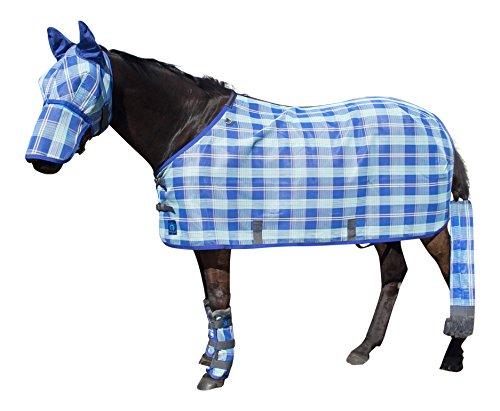 Blue Protective Fly Sheet (Kensington KPP Standard Cut Textilene Protective Sheet, Blue Ice Plaid,)