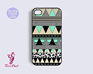 Aztec Iphone 5c case, iphone 5c covers - Tribal Pattern Teal Black Apple Ipho...