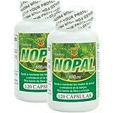 Capsulas de Nopal. Set de 2 frascos con 120 capsulas c/u. Ayuda