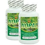 Capsulas de Nopal. Set de 2 frascos con 120 capsulas c/u. Ayuda a la digestion, controla niveles de glucosa, reduce el colesterol