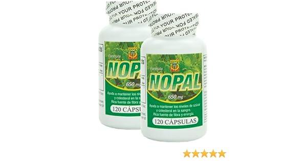 Amazon.com: Capsulas de Nopal. Set de 2 frascos con 120 capsulas c/u. Ayuda a la digestion, controla niveles de glucosa, reduce el colesterol: Health ...