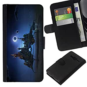 All Phone Most Case / Oferta Especial Cáscara Funda de cuero Monedero Cubierta de proteccion Caso / Wallet Case for Samsung Galaxy Core Prime // Fantasy city In The Sky