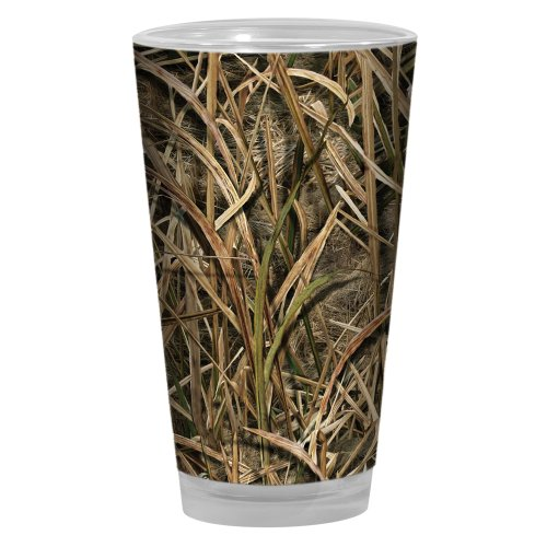 Tree-Free Greetings PG03981 Artful Alehouse Pint Glass, Shadow Grass Blades Mossy Oak Camo, ()