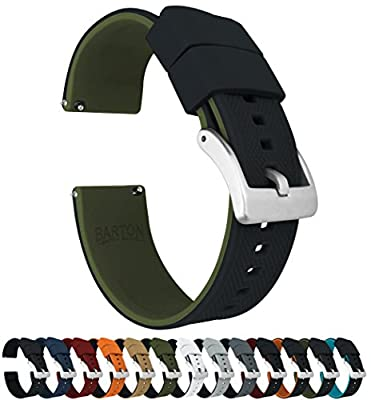 Barton Elite Silicone Watch Bands - Quick Release - Choose Color - 18mm, 20mm & 22mm Watch Straps from Barton Watch Bands