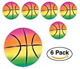"Mini Inflatable Rainbow Basketballs 5"" for Kids Basketball Party Favors, goodie bags / giveaways, 6-Pack"