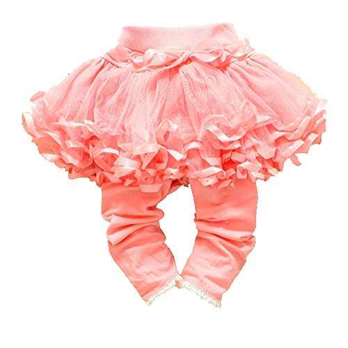 Chadstone Baby Girl Bowknot Tutu Skirt Ruffle Legging with Shorts Pants Outfit Dress Pantskirt - Pink - Kids Chadstone