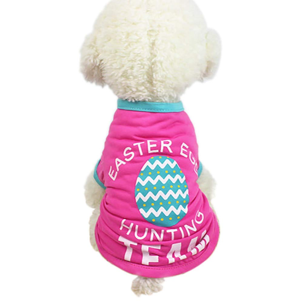 ❤Ywoow❤ Easter Dog Clothing Polyester T Shirt Puppy Costume for Small Dog