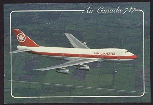 - Air Canada Boeing 747 Passenger Jet Airplane Vintage Postcard