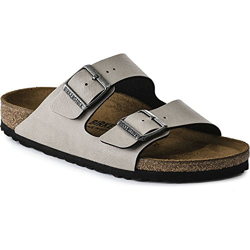 Birkenstock Mens Arizona Pull Up Stone Birko-Flor Sandals 43 EU ()