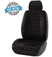 CAR PASS Full Cover Quilting Sideless Universal fit Car Seat Cover,seat Cushion, Easy fit with Ve...