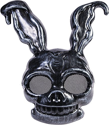 Black Rabbit Mask Costume (Dark Frank The Creepy Black Rabbit PVC Half Mask Bunny Animal Costume Accessory)
