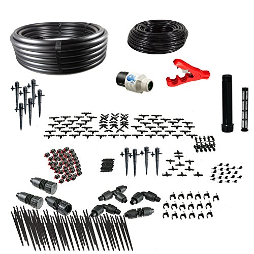 Drip Irrigation Kit for Container Gardening Premium Size - Water 80 - Containers Irrigation