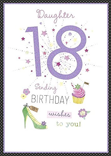 Image Unavailable Not Available For Color Daughter Age 18th Morden Number 18 Happy Birthday Greeting Card