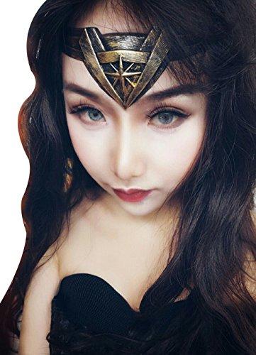 Insho Retro Movie Wonder Woman Headband for Woman Cosplay Head Accessory Prop