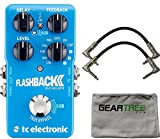 TC Electronic Flashback 2 Delay Pedal w/ Geartree Cloth and 2 Patch Cables