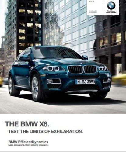 2013 BMW X6 64-page Car Dealer Sales Brochure Catalog