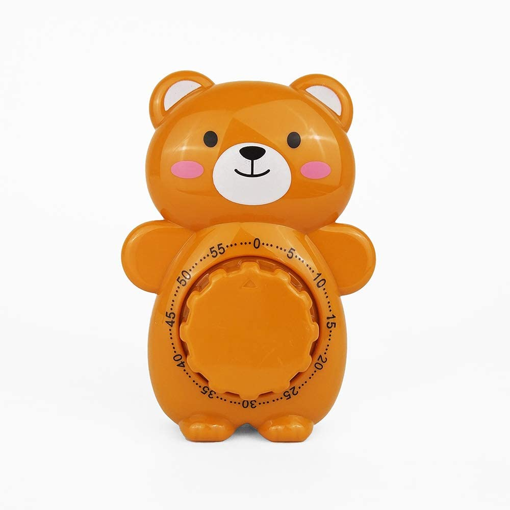 Time Vanguard Countdown Timer Cute Cartoon Animal Shape for Children (Brown Bear)